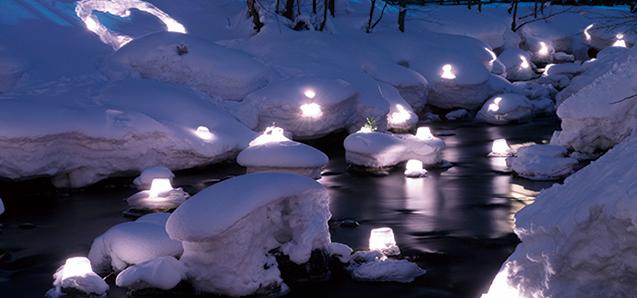 雪あかりの路の原点・・・朝里川温泉会場